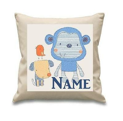 Cheeky Monkey Beige Cushion Cover Can Be Personalised  New Free P&p