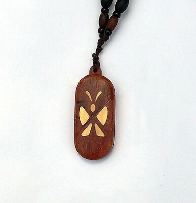 The Illusionist Sandalwood Locket Butterfly Pendant Necklace Photo Frame Cosplay