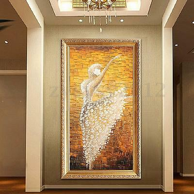 ABSTRACT MODERN HUGE WALL ART OIL HAND PAINTING ON CANVAS--ballet (no framed)