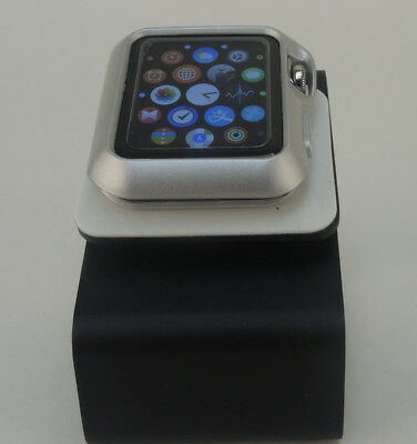 Silver Apple Watch  42mm Case Cover Screen Protector For iWatch