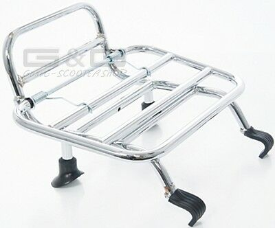 Folding Luggage Rack Chrome for Front on Vespa Gt GTS Gtv 125 250 300 Super