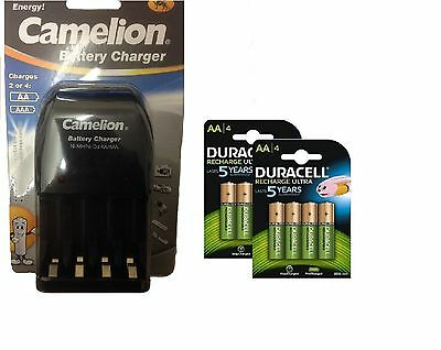 AA/AAA BATTERY CHARGER 8 x AA 2500 mAh  DURACELL DURALOCK RECHARGEABLE BATTERIES