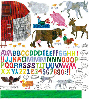 Oopsy Daisy Eric Carle's Farm Peel and Place Wall Decal Set