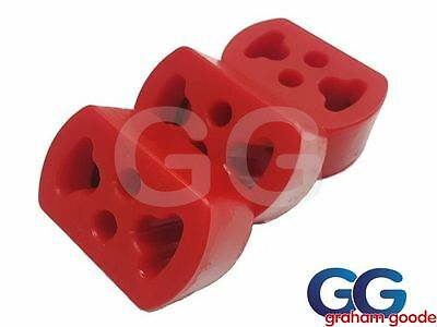 Ford Sierra Cosworth 2wd Exhaust Mounting Bushes x3 Powerflex Polyurethan EXH001