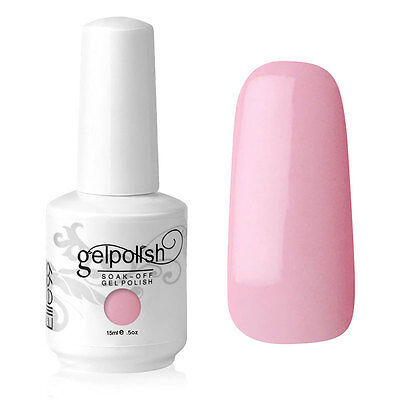 Elite99 Esmalte de Uña Gel Color Rosa Soak-off UV LED Manicura Arte 15ml