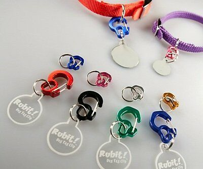 Dog Tag, Quick Release Holder Clip - RUBIT - Choose Size & Color