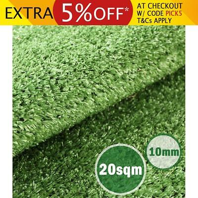 10mm Artificial Grass Outdoor Synthetic Turf 20 SQM Olive Plant Lawn Flooring