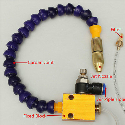 Mist Coolant Lubrication Spraying System Tool for CNC Lathe Milling Machine