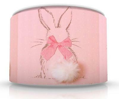 "LITTLE BUNNY CEILING LAMP SHADE 11"" NURSERY nursery pink FREE  P & P"