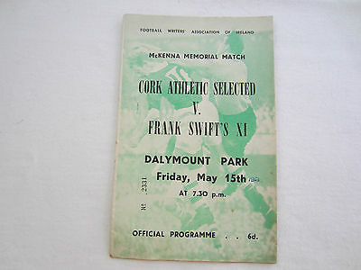 1952-53 CORK ATHLETIC SELECTED v FRANK SWIFTS X1   McKENNA MEMORIAL MATCH