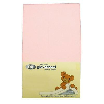 DK Glovesheets Chicco Next 2 Me / Lullago Fitted Sheet (Pink)