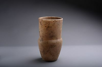 Ancient Egyptian New Kingdom Alabaster Vase - 1500 BC