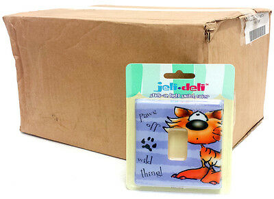 Wholesale Box Of 44 Jeli Deli Stick On Light Switch Cover - Wild Thing Paws Off