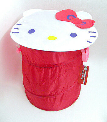 Wholesale Box Of 24 Hello Kitty Pop Up Storage Bins Pink Laundry Toys Clothes