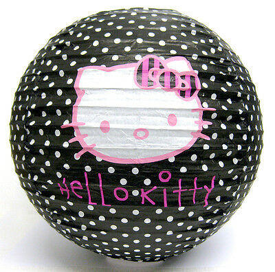 Wholesale Box Of 200 Hello Kitty Paper Lampshades / Lightshades Black Polka Dott