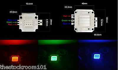 10/20/30/50/100W RGB Super Bright Integrated SMD LED Chip High Power Floodlight
