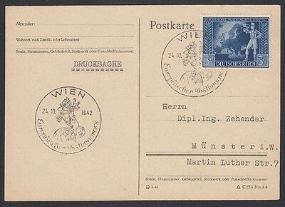 GERMANY, 1942. Post Card  820, Vienna - Munster