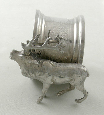 Sterling Figural Napkin ring with DEER - Birmingham (1927)