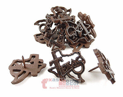 12 Rustic Texas Map Outline Tacks Craft Pin Nail Custom Work Cast Iron Western