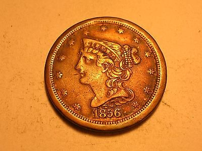 1856 Half Cent (VF/XF, Low Mintage, & Attractive)