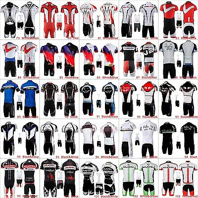 Men's Cycling Bike Bicycle Jersey Outfits Kits Shirt Bib Shorts Brace Pants Set
