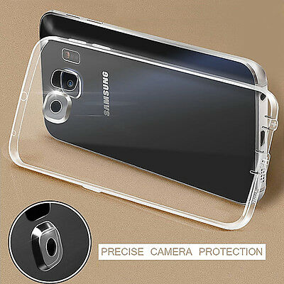 Ultrathin Clear Crystal Rubber TPU Soft Case Cover For Samsung Galaxy S6 S7 Edge