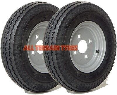"4.80/4.00-8 4 Ply Road Legal 8"" Trailer Wheels & Tyres 100mm PCD  400x8  4.00-8"