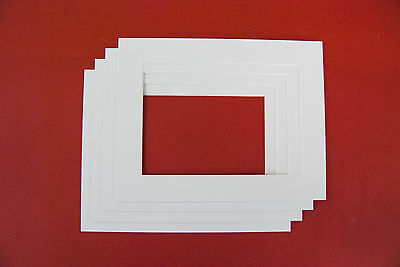 Photo Mounts Picture Frame Various Sizes & Colours Bevelled Edge
