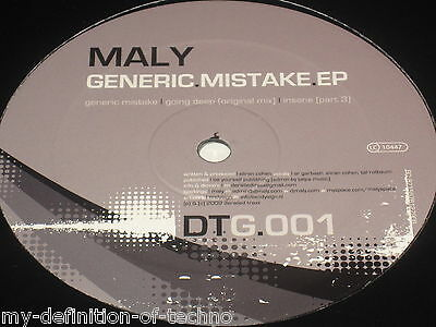"""Maly, Generic Mistake EP (Derailed Traxx Grey 001) 12"""" Hardstyle"""