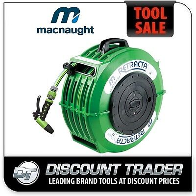Macnaught 12.5mmx18m RETRACTA High Quality Garden Water Hose Reel - DR2121