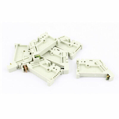 6Pcs 35mm DIN Rail Screw Fixed Terminal Block End Stopper Mounting Clips