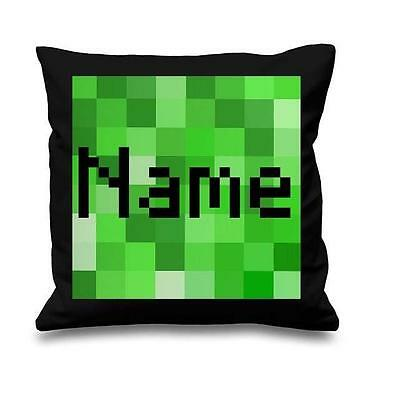 PIXELS CUSHION COVER CAN BE PERSONALISED  matches GAME NEW FREE P&P