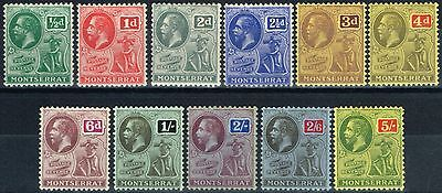 Montserrat 1916-22 set of 11 SG49-59 V.F Very Lightly Mtd Mint & MNH