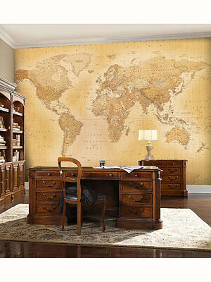 GIOCATTOLI Vintage World Map Wall Mural 2.32m x 3.15m
