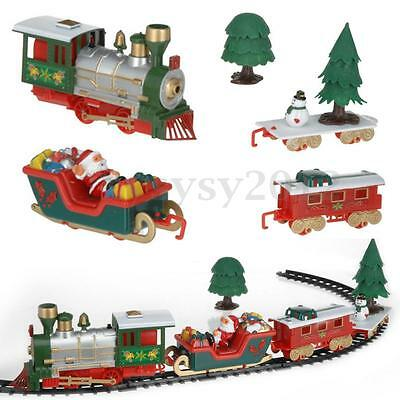 Musical Train and Carriages Xmas Tree Set With Light Toy Baby Children Kids Gift