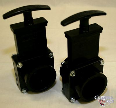 "2 X 2"". Valterra Slide Valves Koi Fish Pond Filter"