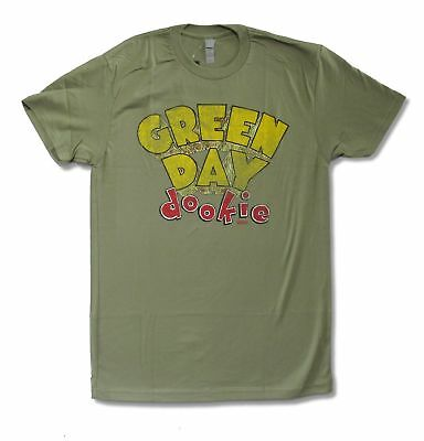 """Green Day """"Dookie"""" Olive Green T-Shirt New Official Adult Punk Band Music"""