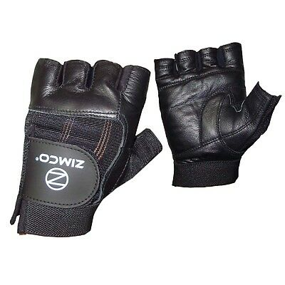Zimco Real Leather Heavy  Duty Weight Lifting Gloves