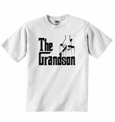 The Grandson - New Personalised Baby T-shirt Tees for Boys, Girls