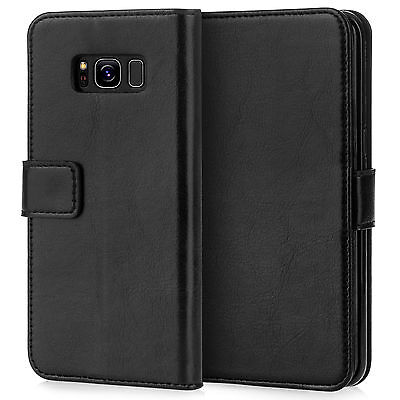 Caseflex Samsung Galaxy S8 S8 Plus S7 S7 Edge Real Leather ID Wallet Stand Case
