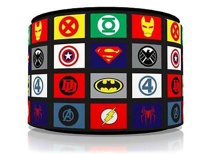 "Superhero Logos Ceiling Light Lamp Light Shade 11""  Kids Room  Free  P & P"