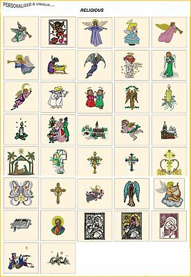 RELIGIOUS. CD or USB machine embroidery designs files xmas most formats pes etc
