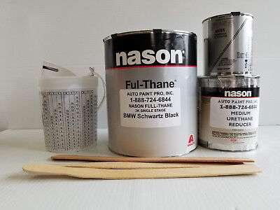 BMW Schwartz Black Dupont /Nason 2k ful-thane single stage urethane auto paint