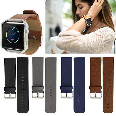 Genuine Leather Watchband Bracelet watch Band Strap For Fitbit Blaze Smart Watch