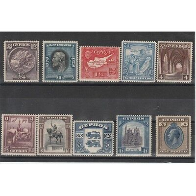 1928 Cipro Cyprus Occupazione Inglese 10 Val Mlh Mf19502