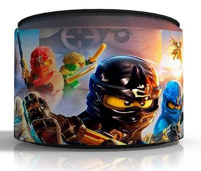 "NINJAGO CEILING LIGHT LAMP LIGHT SHADE 11""  matches duvet  set  KIDS FREE  P & P"