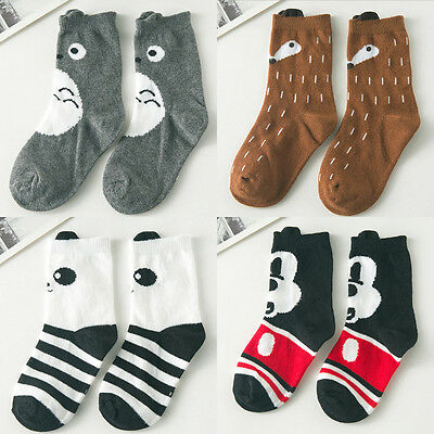 New Apposite Baby Children Girls Fox Pattern Socks Soft Cotton Ankle Socks 1pair