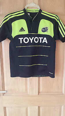 Munster Official Adidas Rugby Shirt Size 11-12 Years