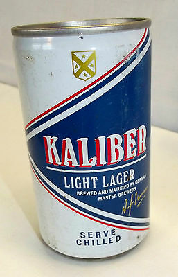 Leere Bierdose Kaliber Light Beer Brewed by Germany Gebraut in Deutschland