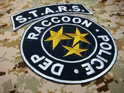Blue Resident Evil Umbrella STARS Reccoon Big Back Of The Body Embroidery Patch